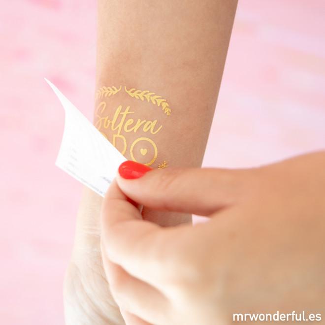 Tatuajes temporales para bodas geniales
