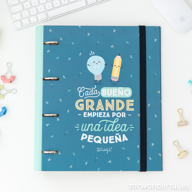 Carpeta con anillas Mr.Wonderful