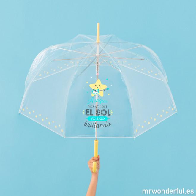 Paraguas grande transparente Mr.Wonderful