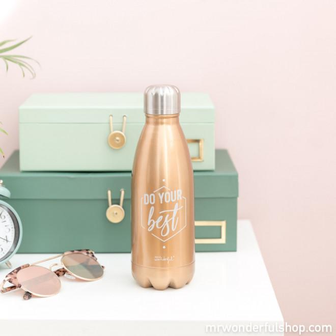 Botella de acero inoxidable - Do your best (ENG)