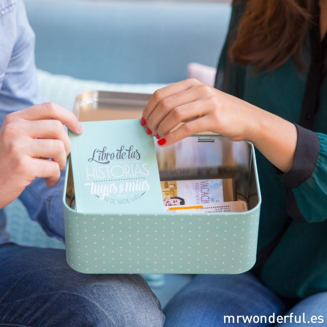 Kit - Caja + libro de recuerdos para parejas