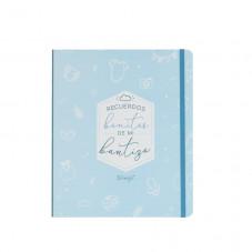 Kit scrapbooking para álbum de bautizo - Azul