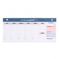 Organizador semanal estrecho para planificarte fenomenal