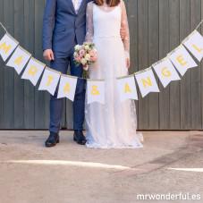 Banderines de papel para bodas