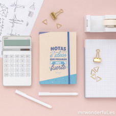 Libreta con notas adhesivas mr wonderful