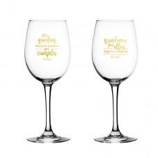Copas de vino para los novios