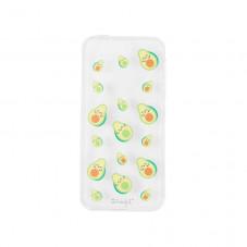 Carcasa transparente para iPhone SE - Aguacates