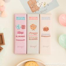 Pack de 3 chocolatinas para un bombón