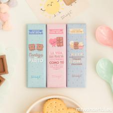 Pack de 3 chocolatinas para amistades muy dulces
