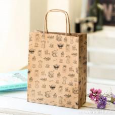 "Pack de 5 bolsas de papel de regalo ""Café"""