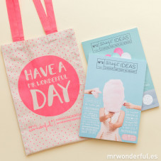 Revista Mr. Wonderful ideas 2 y 3 + bolsa de regalo