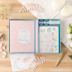 Kit scrapbooking para álbum de bautizo - Rosa