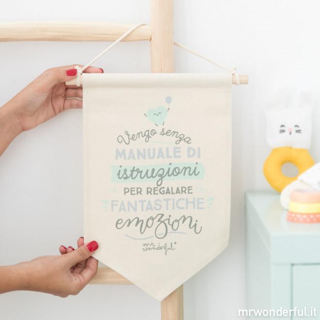 Decorazione da parete - Vengo senza manuale di istruzioni per regalare fantastiche emozioni (IT)