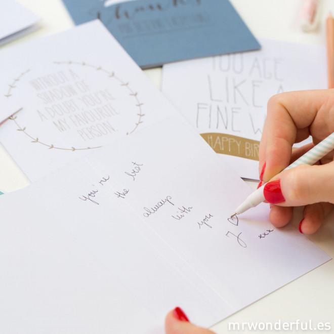 Cartoline di auguri a colori - Confezione con 5 modelli (ENG)