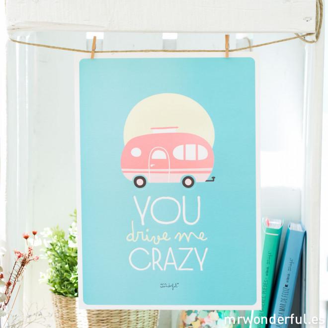 Lámina summer con relieve - You drive me crazy