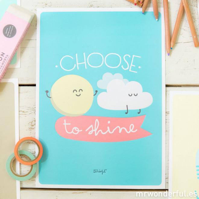 Lámina summer con relieve - Choose to shine