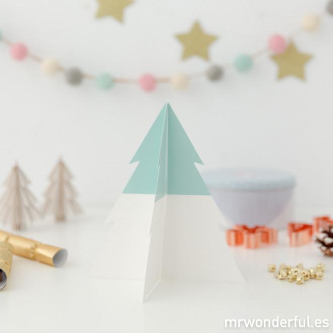 Decorazioni a forma di albero di Natale - Verde e bianco