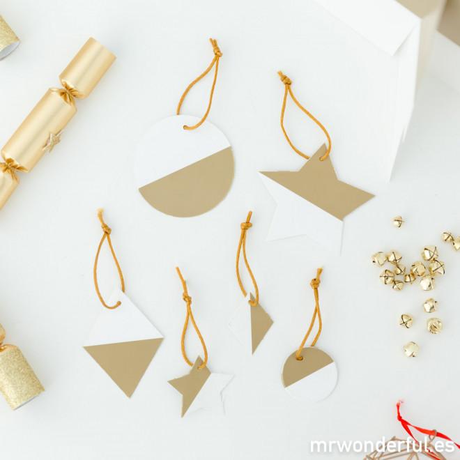 Decorazione albero di Natale - Oro e Bianco