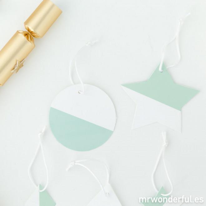 Decorazioni per l'albero di Natale - Color Menta e bianco