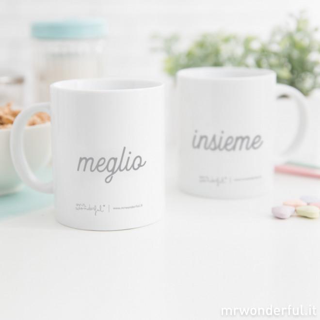 """Set di 2 tazze """"Meglio Insieme"""" (IT)"""
