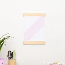 Cornice di legno per poster A4