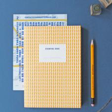 Quaderno da disegno Iconic color giallo