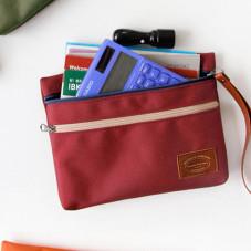 Portamonete e portadocumenti Iconic con due tasche color granata