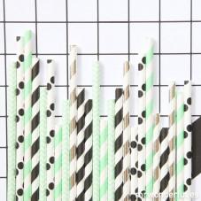 Mix di cannucce di carta color menta - 25 ud.
