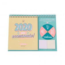 Calendario da tavolo - 2020, sarai eccezionale!