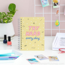 Libreta pequeña - Try hard every day (ENG)