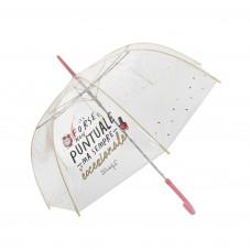 Ombrello grande trasparente - Forse non puntuale ma sempre eccezionale(IT)