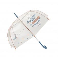 Ombrello grande trasparente  - Se il tempo è brutto, un sorriso è il rimedio giusto (IT)