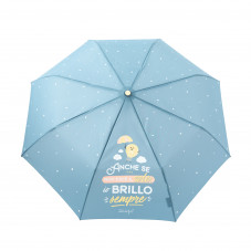 Ombrello medio azzurro - Anche se non esce il sole, io brillo sempre (IT)