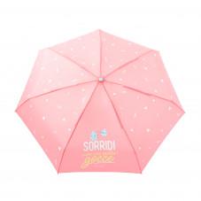 Ombrello piccolo rosa - Sorridi, sono solo quattro gocce (IT)