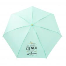 Ombrello piccolo verde - Gli ombrelli e il Wi-Fi vanno condivisi (IT)