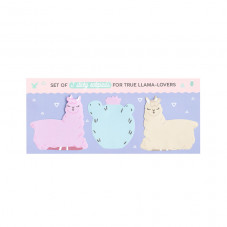 Set of 3 sticky notepads for true llama-lovers