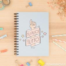 """Quaderno a colori """"Tu puoi tutto"""" (IT)"""