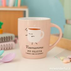 """Tazza """"Neomamma: più felicità, meno ore di sonno"""" (IT)"""