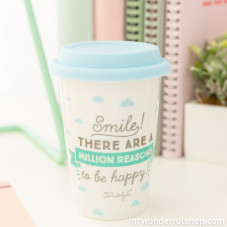 "Tazza take away ""Smile! There are a million reasons to be happy! (ENG)"