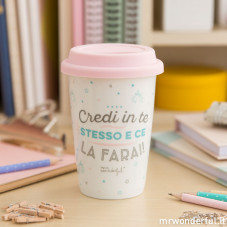 "Tazza take away ""Credi in te stesso e ce la farai!"" (IT)"