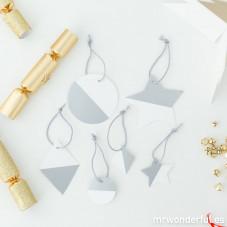 Decorazioni per l'albero di Natale -  Argento e bianco