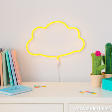 Luce neon a forma di nuvola - Gialla