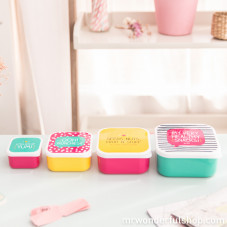 "Set di 4 Lunch Box ""Healthy snacks"""