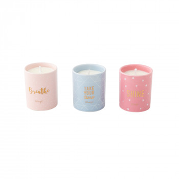 Set di 3 candele - Breathe, take your time and... shine! (ENG)