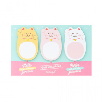 Note adesive Maneki-neko - Lucky Collection