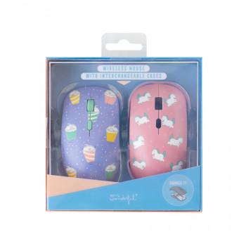 Mouse senza fili con cover intercambiabili - Smoothie e unicorni