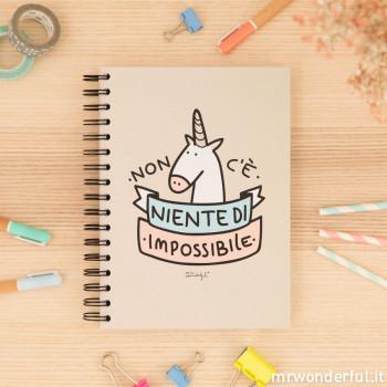 """Quaderno a colori """" Non c'è niente di impossibile"""" (IT)"""