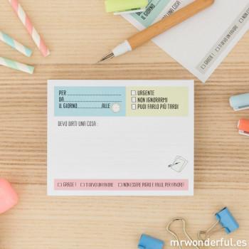 """Block notes """"Non dimenticare"""" (IT)"""
