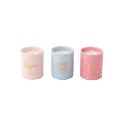 Set di 3 candele - Respira, prenditi il tuo tempo e... brilla! (IT)