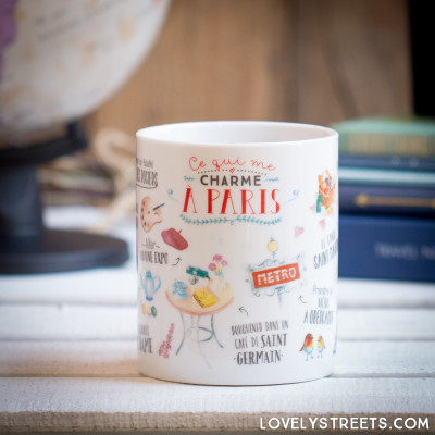 Tazza Lovely Streets - Ce qui me charme à Paris (FR)
